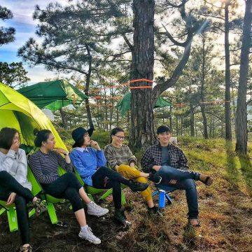 cắm trại tại vườn quốc gia ba vì