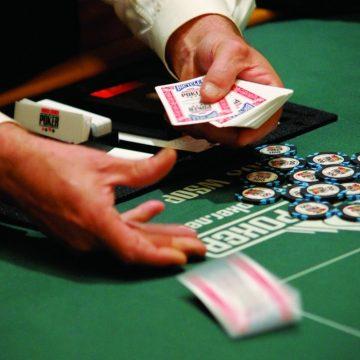 Poker dealer.