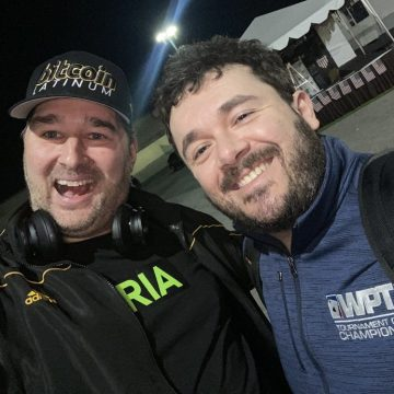 Phil Hellmuth and Anthony Zinnoo
